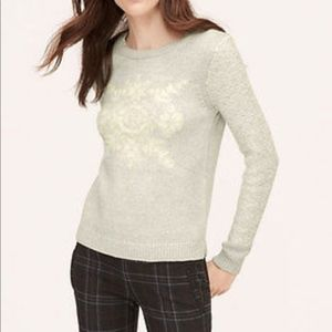 Loft Grey Snowflake Sweater SP